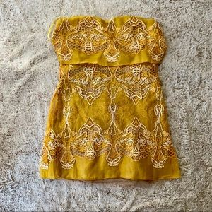 BCBG Maxazria Runway Yellow Dress